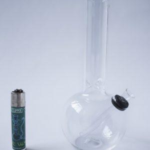 באנג זכוכית (מקטרת מים) בינוני עם צוואר קצר