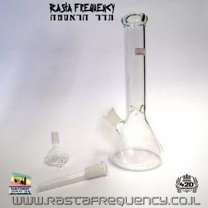 באנג זכוכית (מקטרת מים) משולש עם ראש נשלף