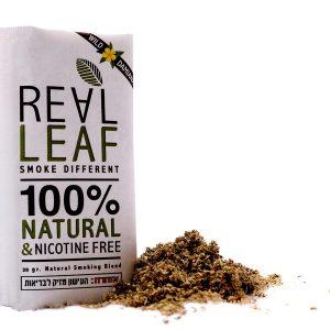 REAL LEAF תחליף טבק רליף נטורל (לבן)