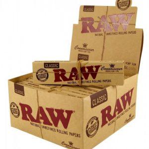 ניירות גלגול RAW קינג סייז קלאסי – פאקט 24 יחידות