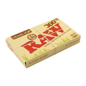 ניירות גלגול RAW 300 אורגני רחב – פאקט 40 יחידות
