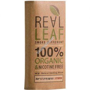 REAL LEAF תחליף טבק רליף אורגני (חום)