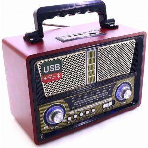 רדיו אנלוגי בסגנון עתיק עם בלוטוס