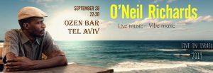 ריצ'ארדס אוניל בסיבוב הופעות בישראל @ אוזן בר   תל אביב יפו   מחוז תל אביב   ישראל