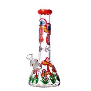 """באנג זכוכית (מקטרת מים) פטריות עם ראש נשלף 14 מ""""מ + ראש נוסף מתנה"""