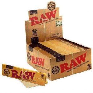 ניירות גלגול RAW קינג סייז קלאסי – פאקט 50 יחידות