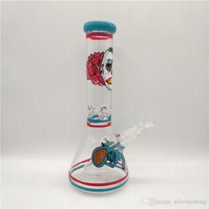 """באנג זכוכית (מקטרת מים) קרטל עם ראש נשלף 14 מ""""מ + ראש נוסף מתנה"""