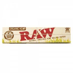 ניירות גלגול RAW קינג סייז אורגני – פאקט 50 יחידות