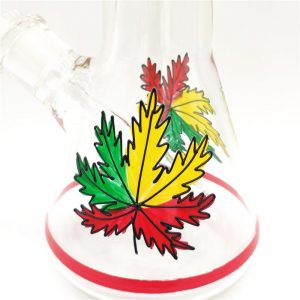 """באנג זכוכית (מקטרת מים) ראסטה עם ראש נשלף 14 מ""""מ + ראש נוסף מתנה"""